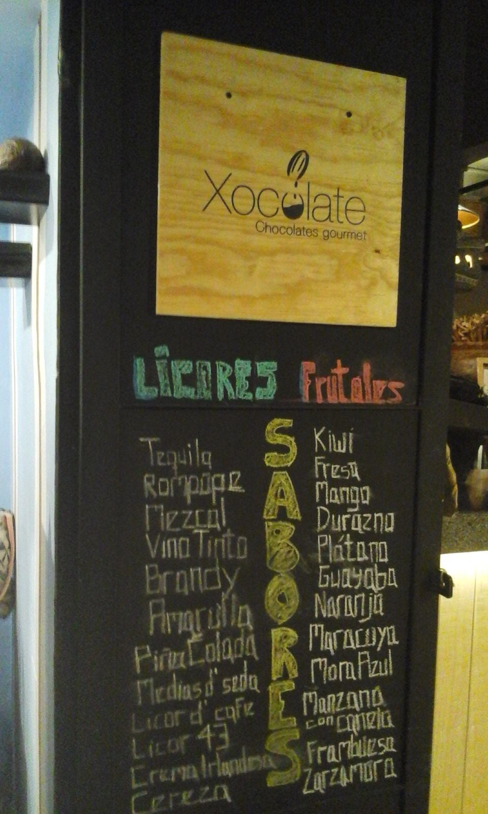 Signage in Xocolate