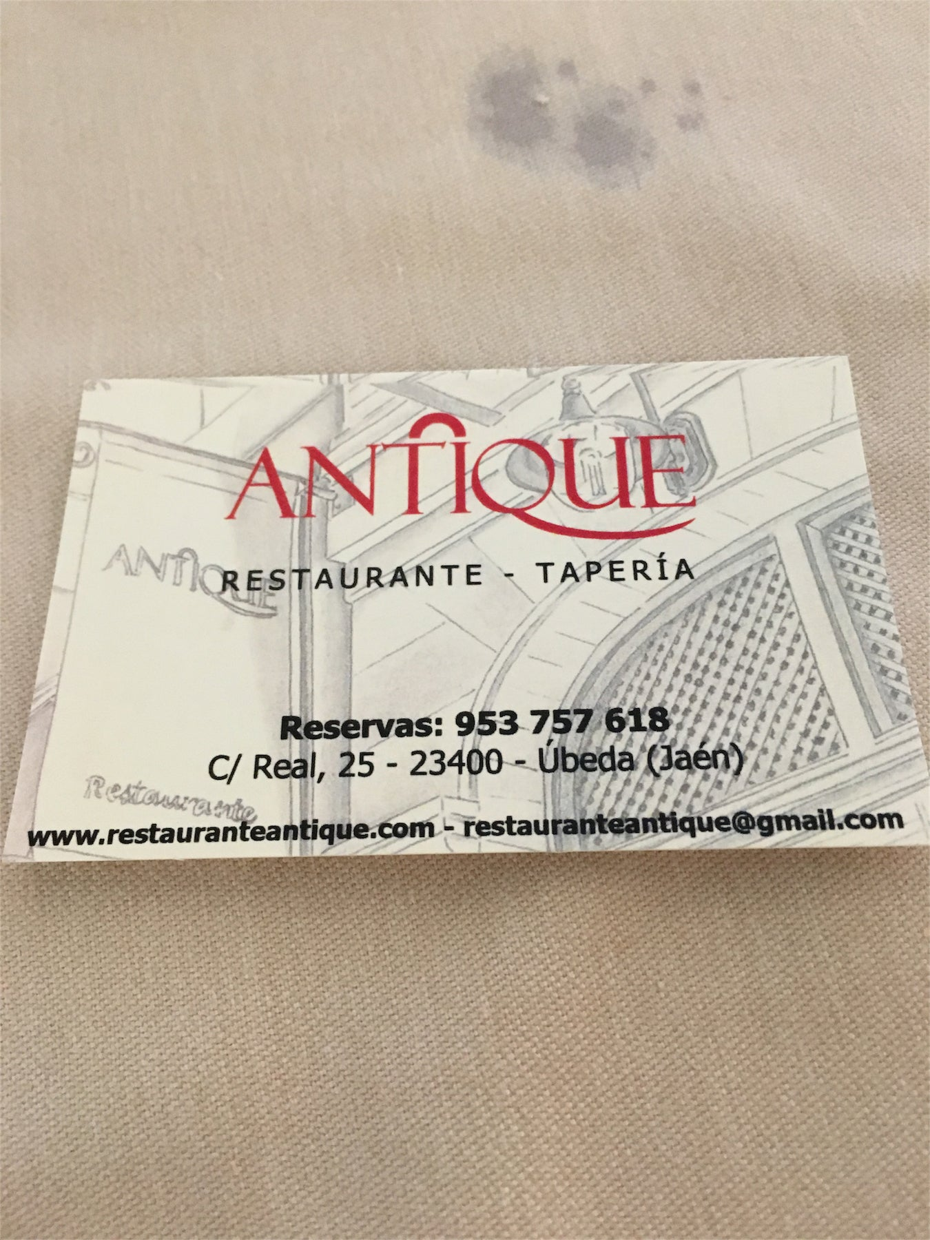 Restaurante - Tapería Antique