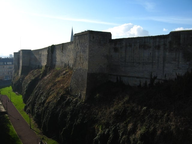 Pared en Castillo de Caen