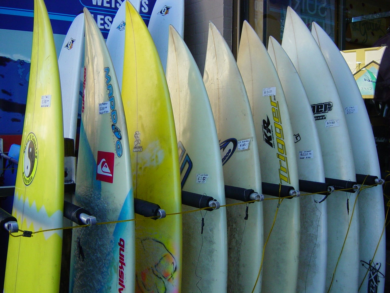 Tabla de surf en Byron Bay