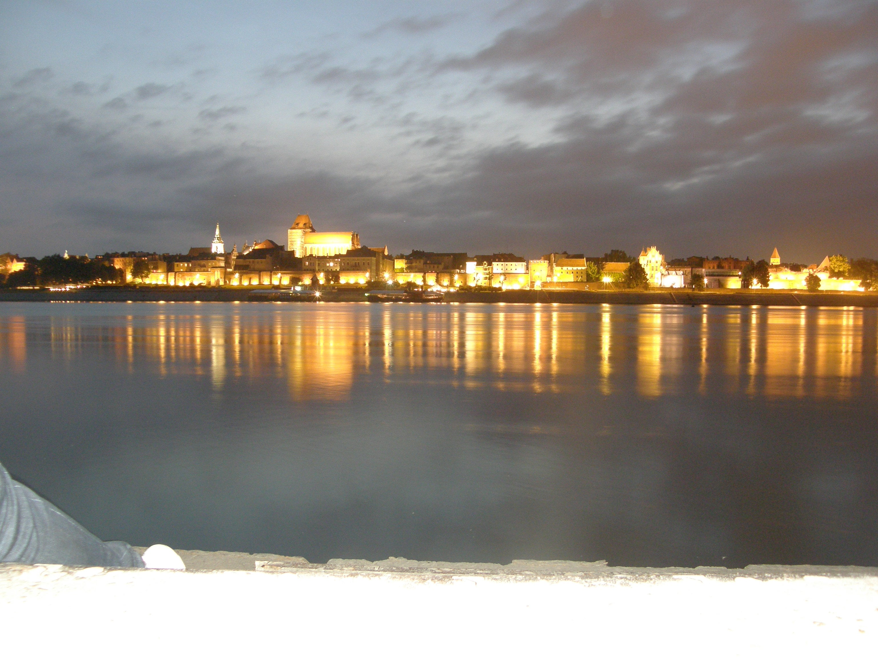 View of Torun from Across the River