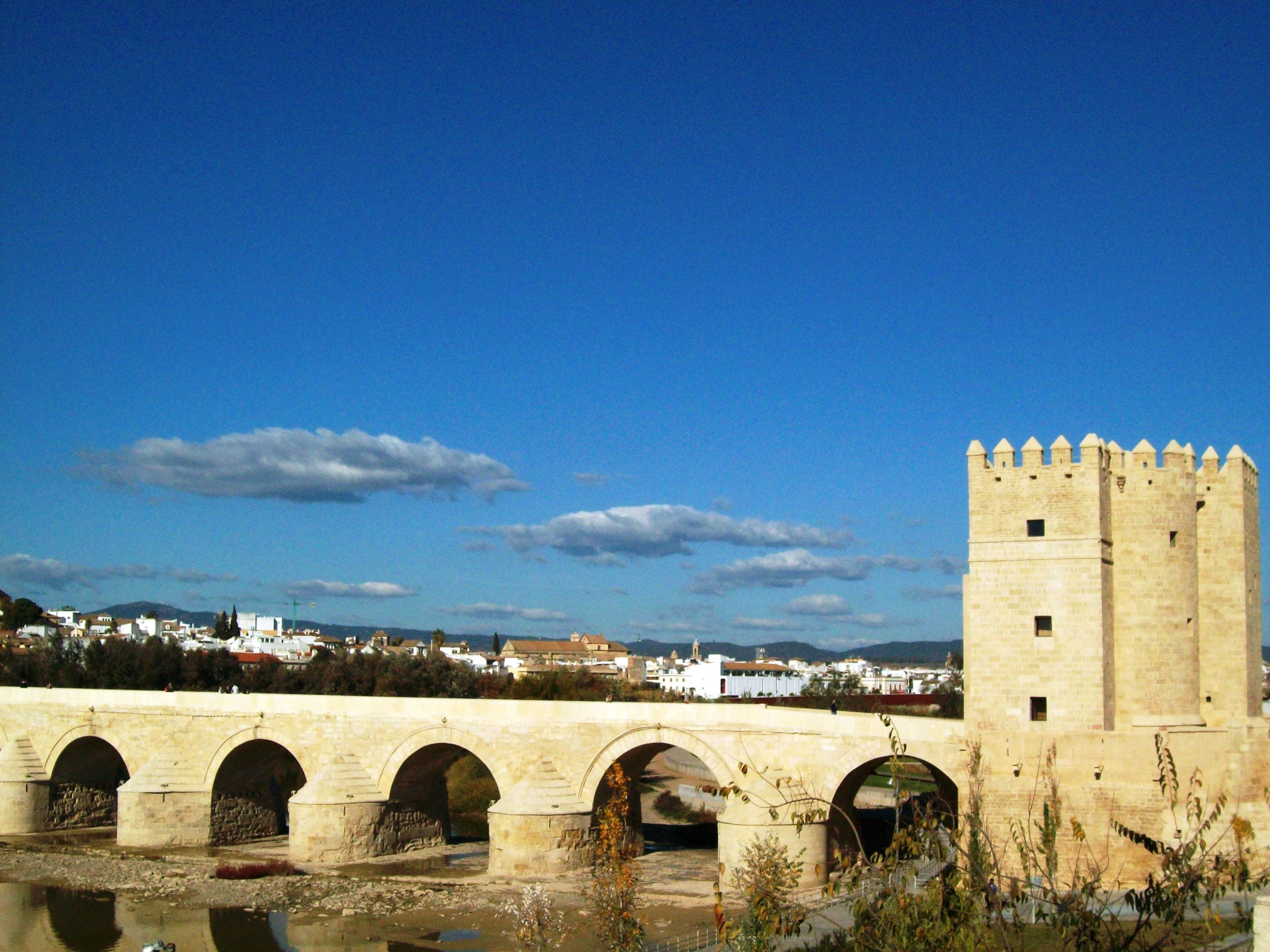 Ancient Roman Architecture in Roman Bridge of Córdoba