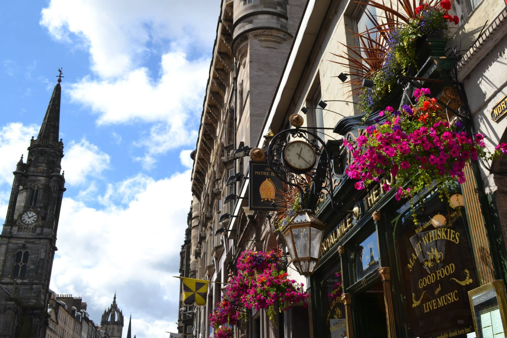 Flor en Royal Mile