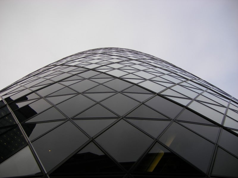 Fachada en Swiss Re Tower - Torre Gherkin