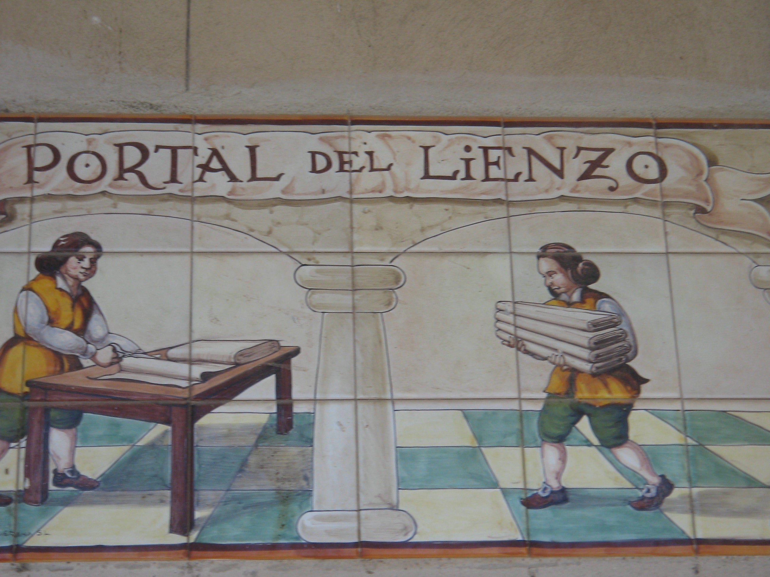Azulejo en Plaza Mayor de Trujillo