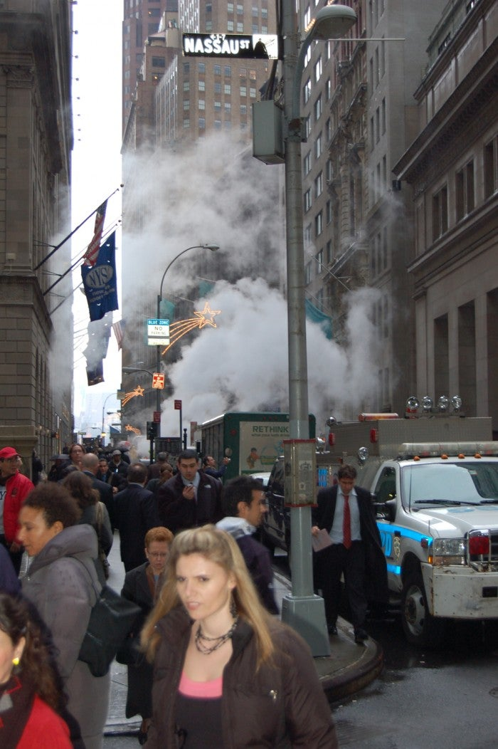 Multitud en Wall Street