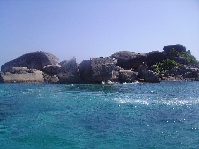 Costa en Islas Similan