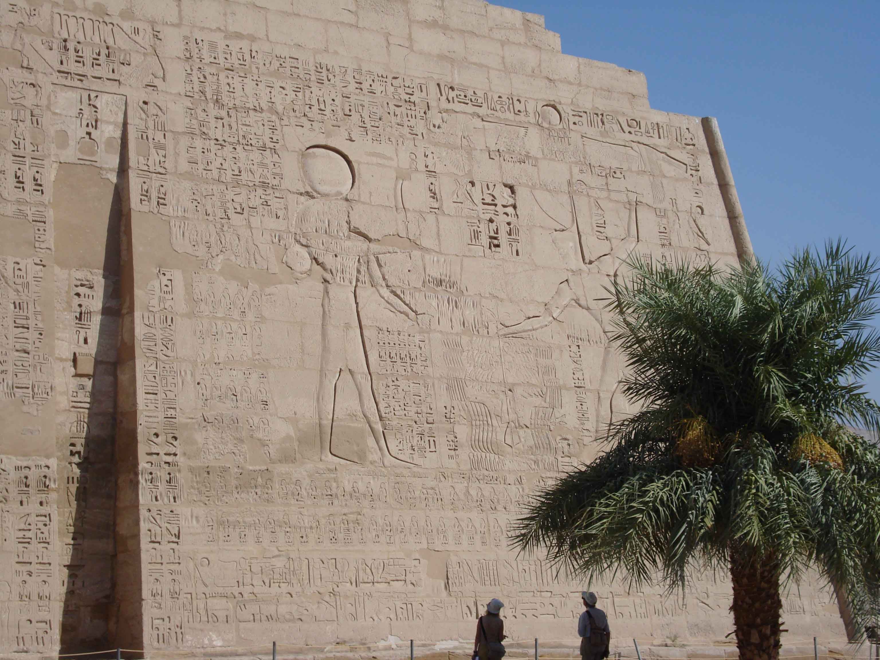 Pared en Medinet Habu