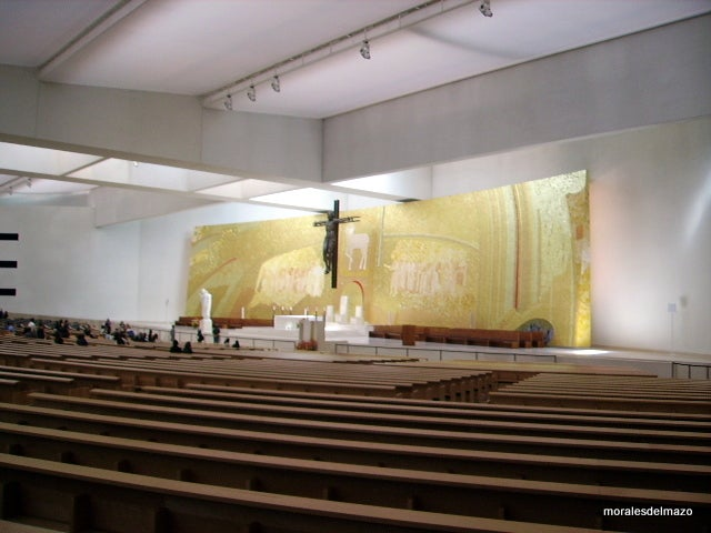 Lobby in Basilica of Our Lady of the Rosary of Fatima