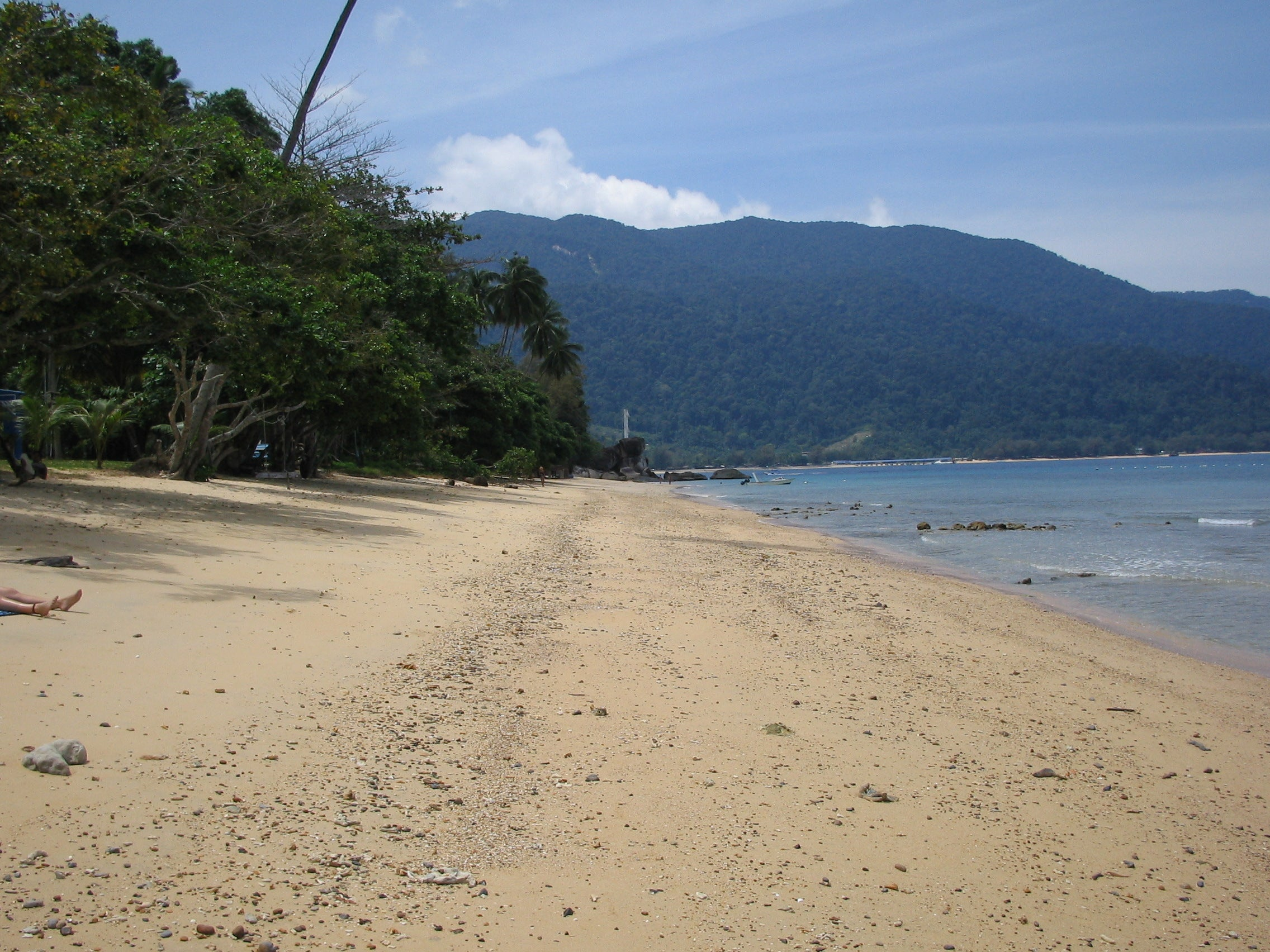 Mar en Playas de Tioman