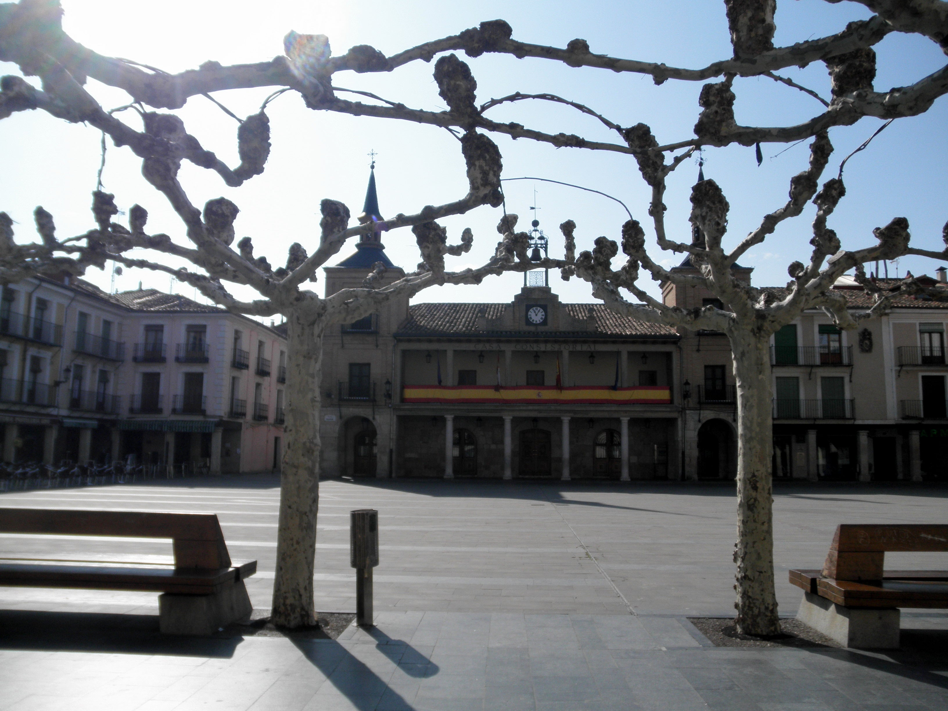 Nieve en Plaza Mayor