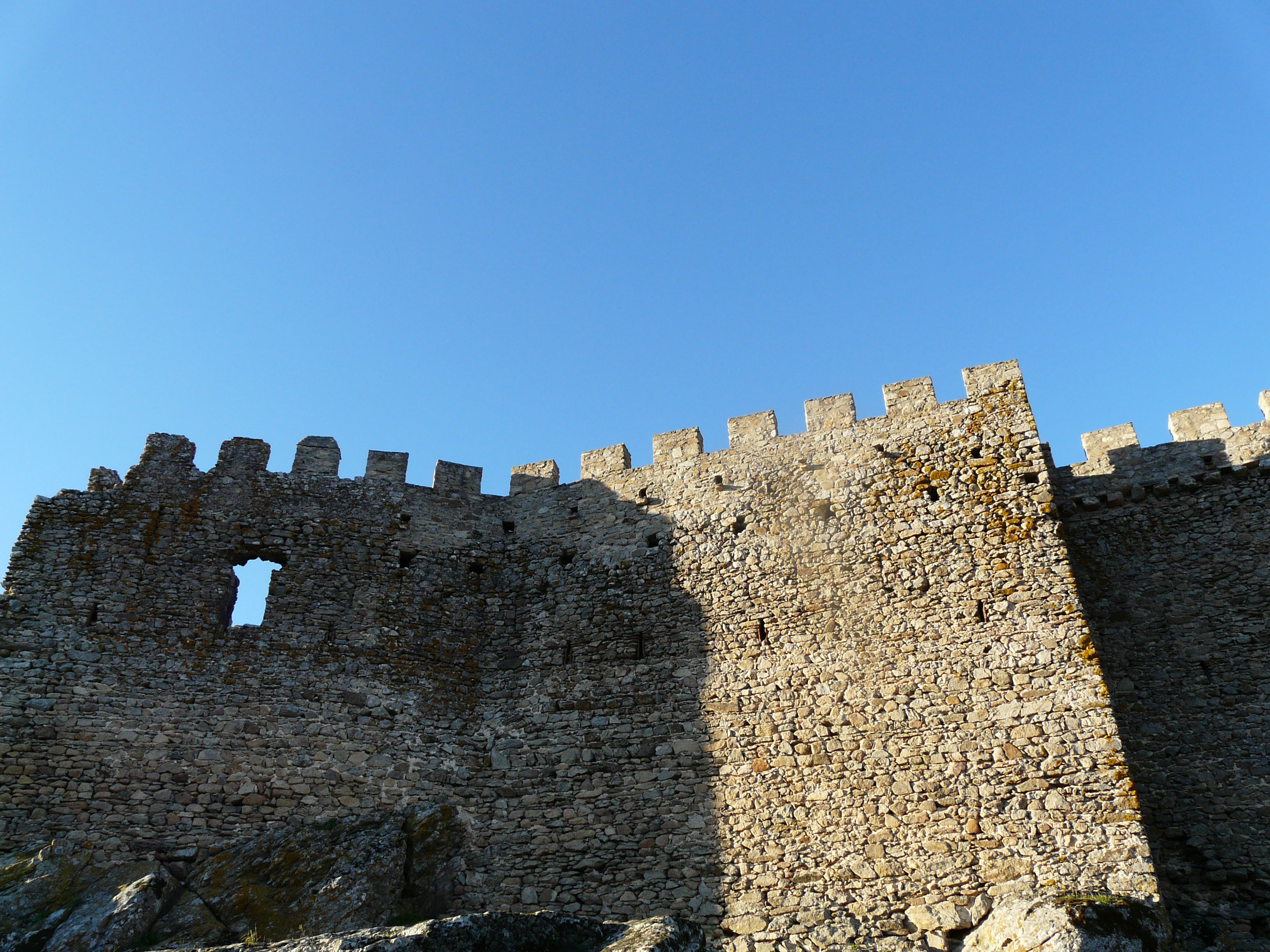 Pared en Castillo de Montánchez