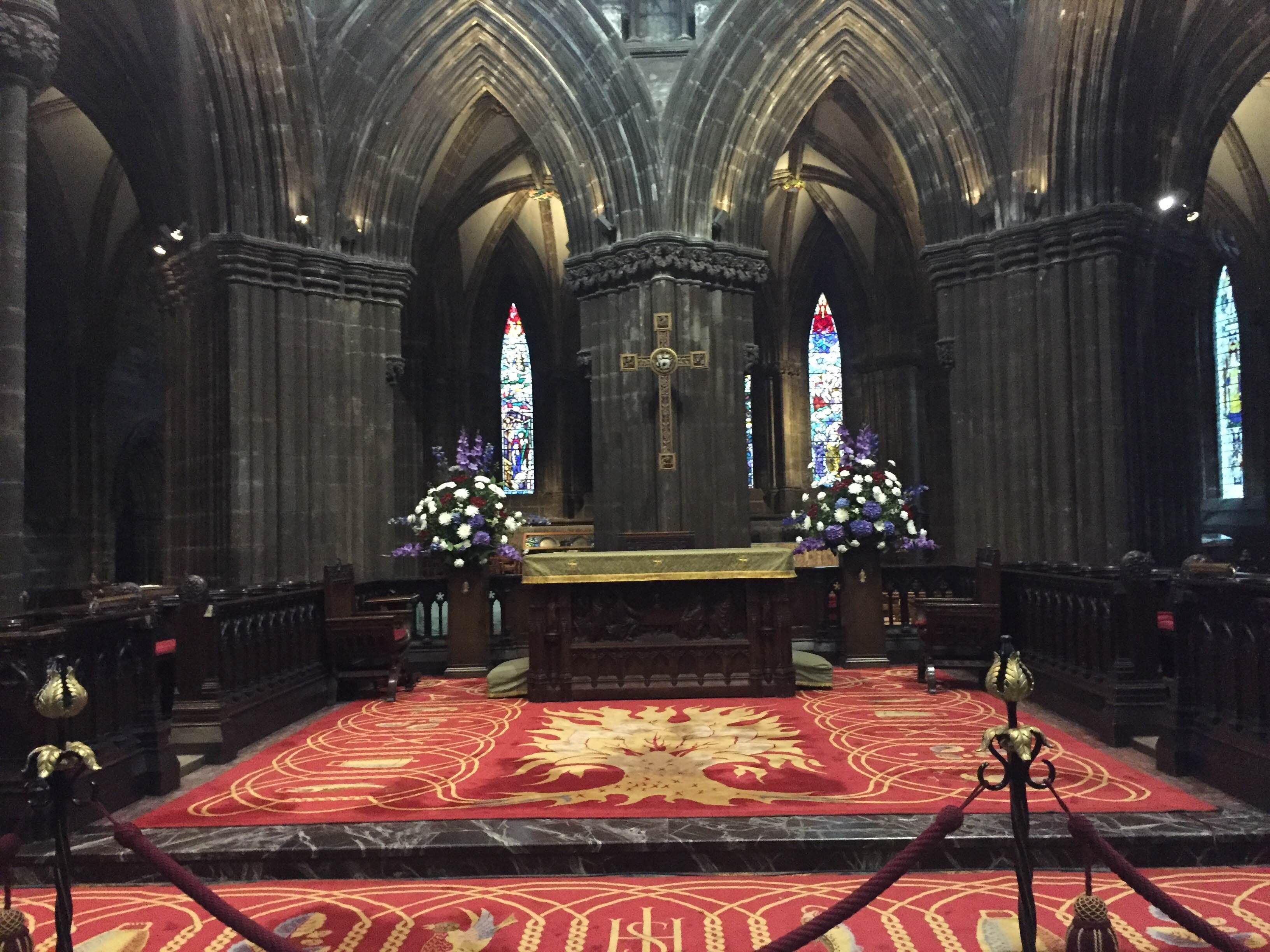 Altar en Catedral de Glasgow - High Kirk