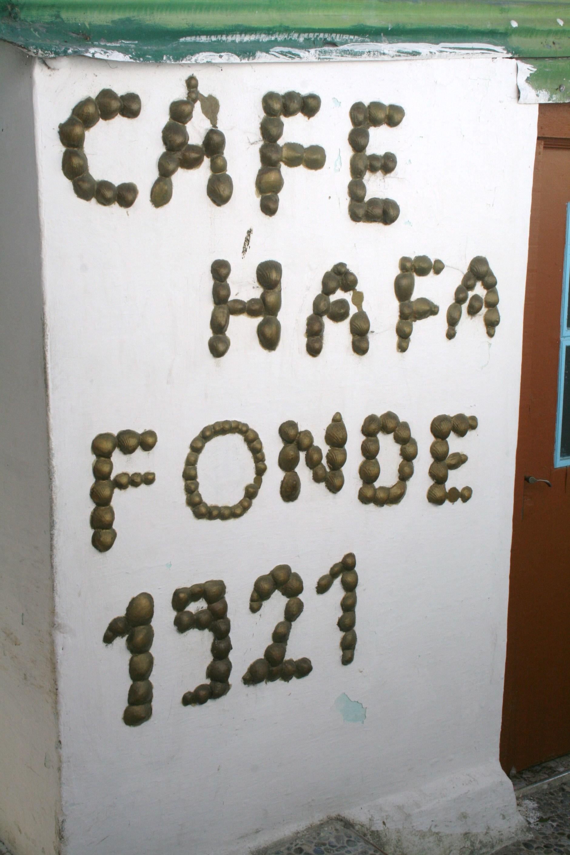 Documento en Café Hafa
