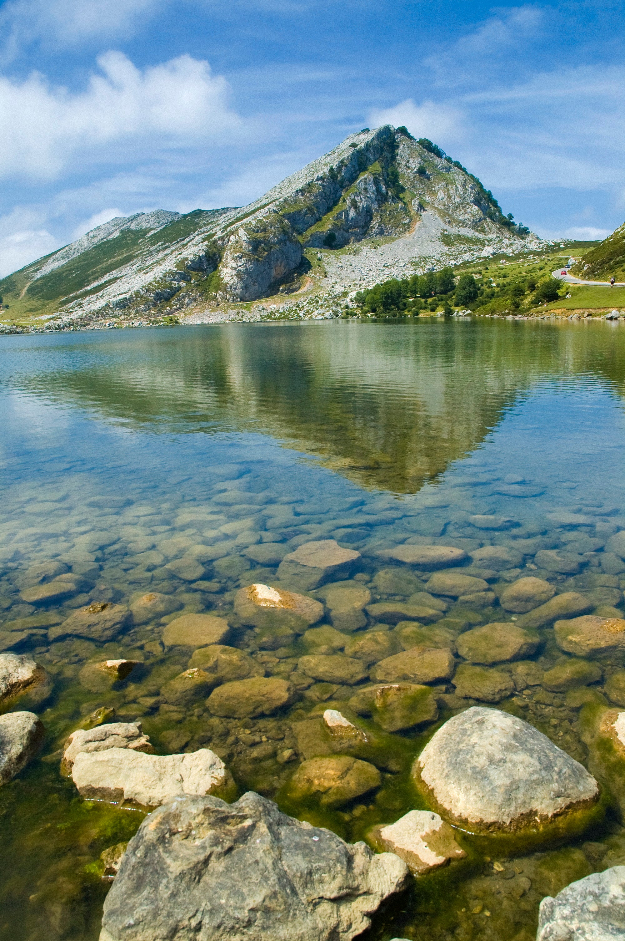 Rock in The Lakes of Covadonga - Enol and Ercina lakes