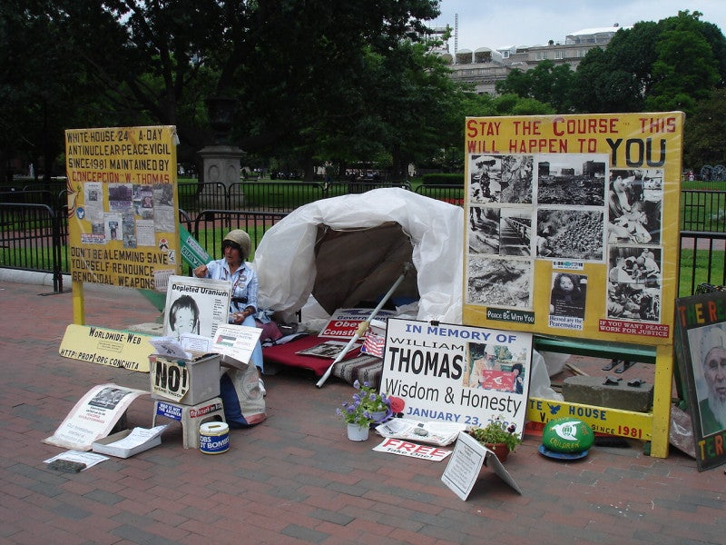 A Life of Protest in front of the White House