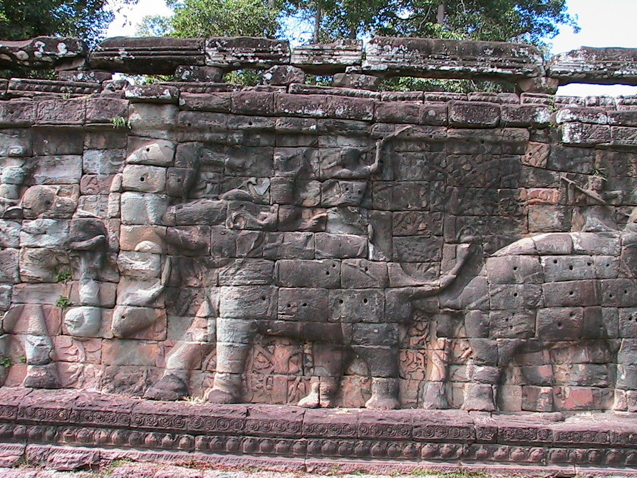Pared en Templo Baphuon