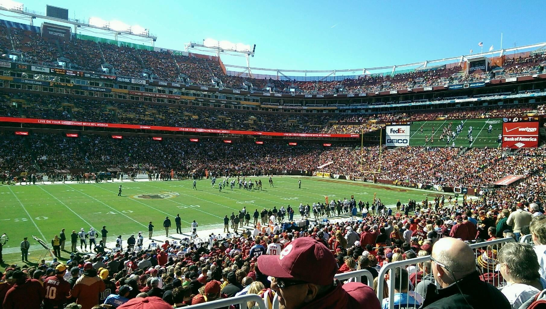Multitud en FedExField