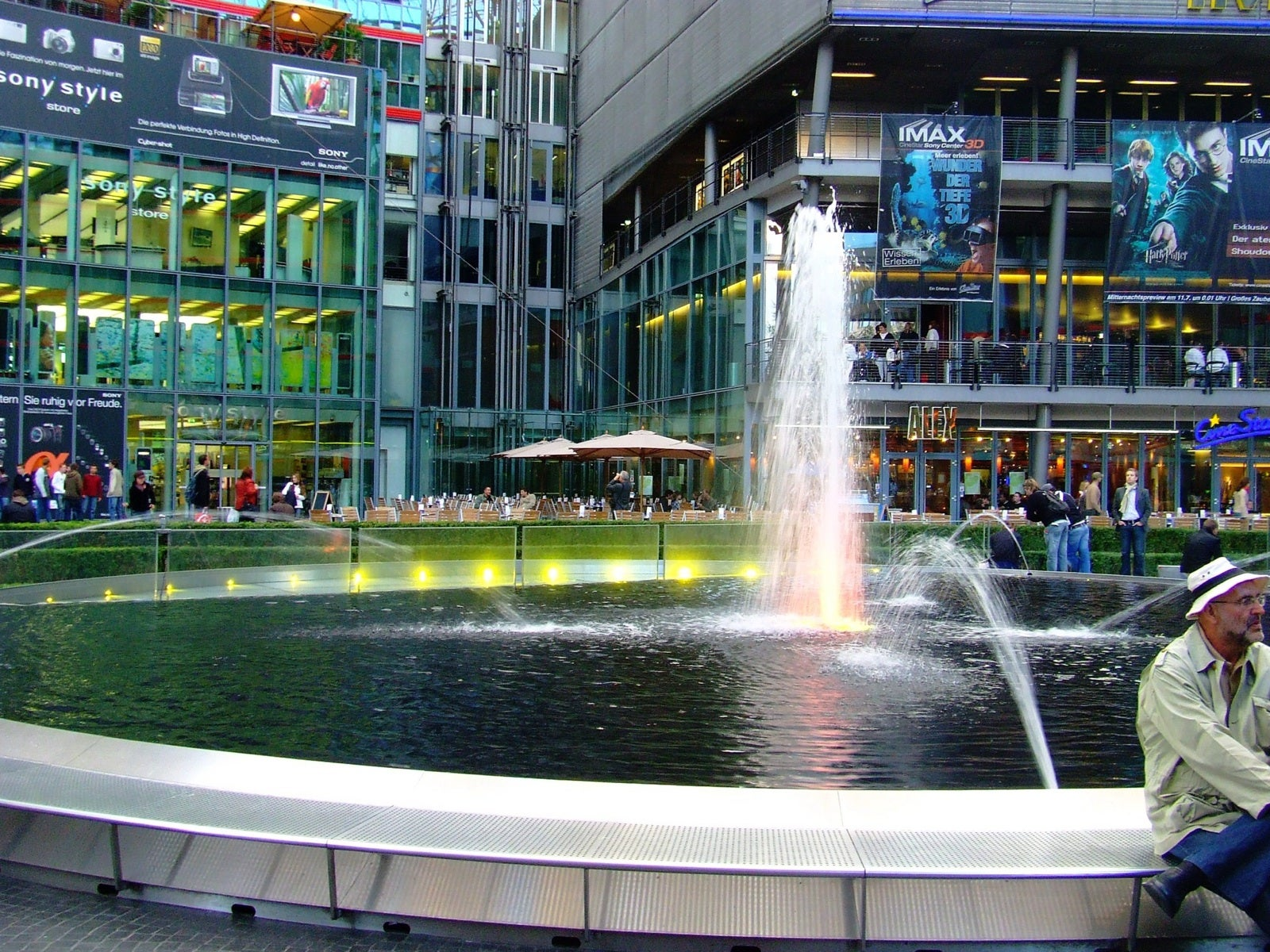 Fuente en Sony Center