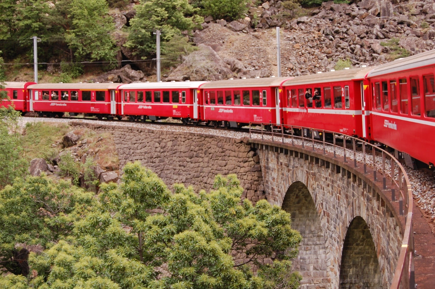 Tren en Bernina Express