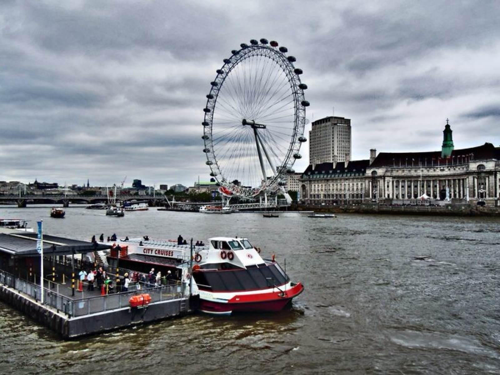 Ferry en London Eye