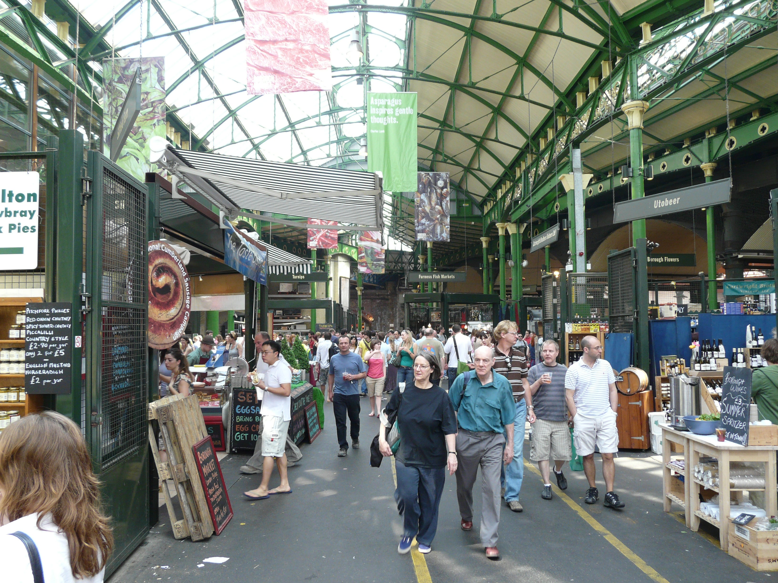 Multitud en Borough Market