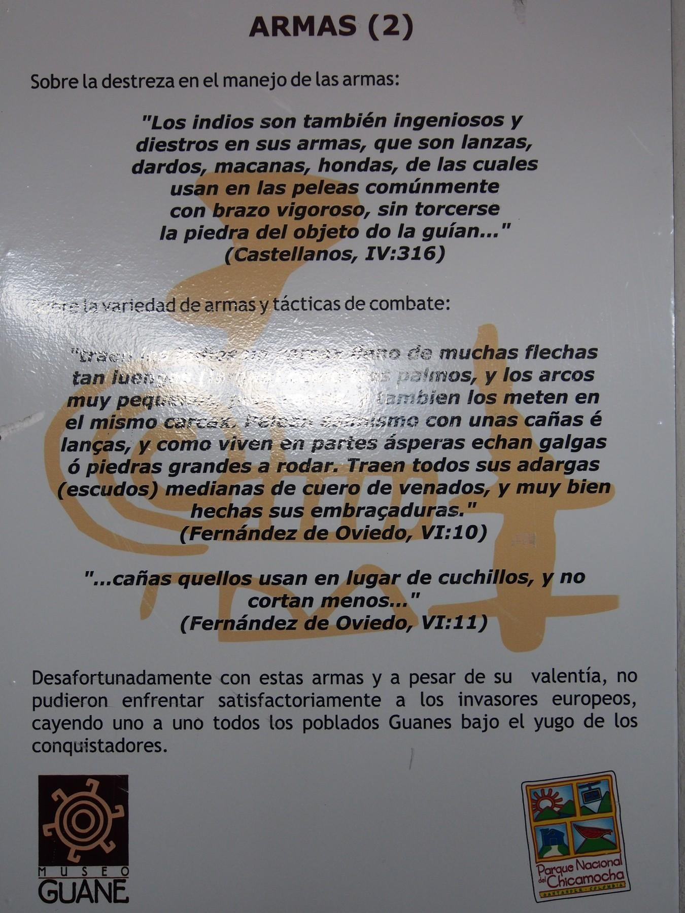 Documento en Museo Guanes