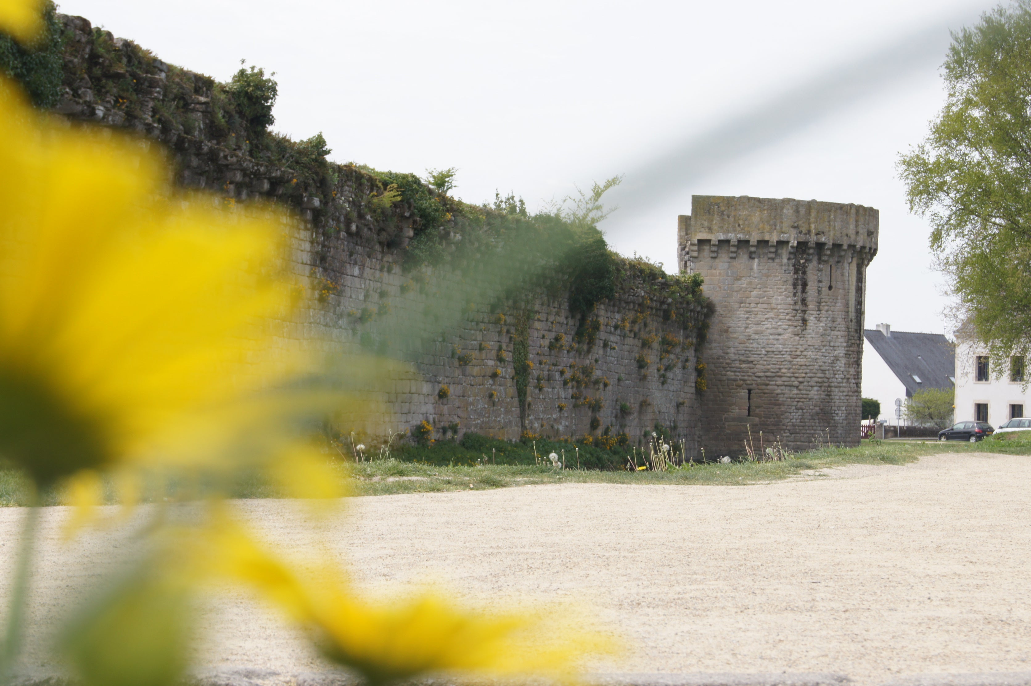 The fortified wall of Guerande