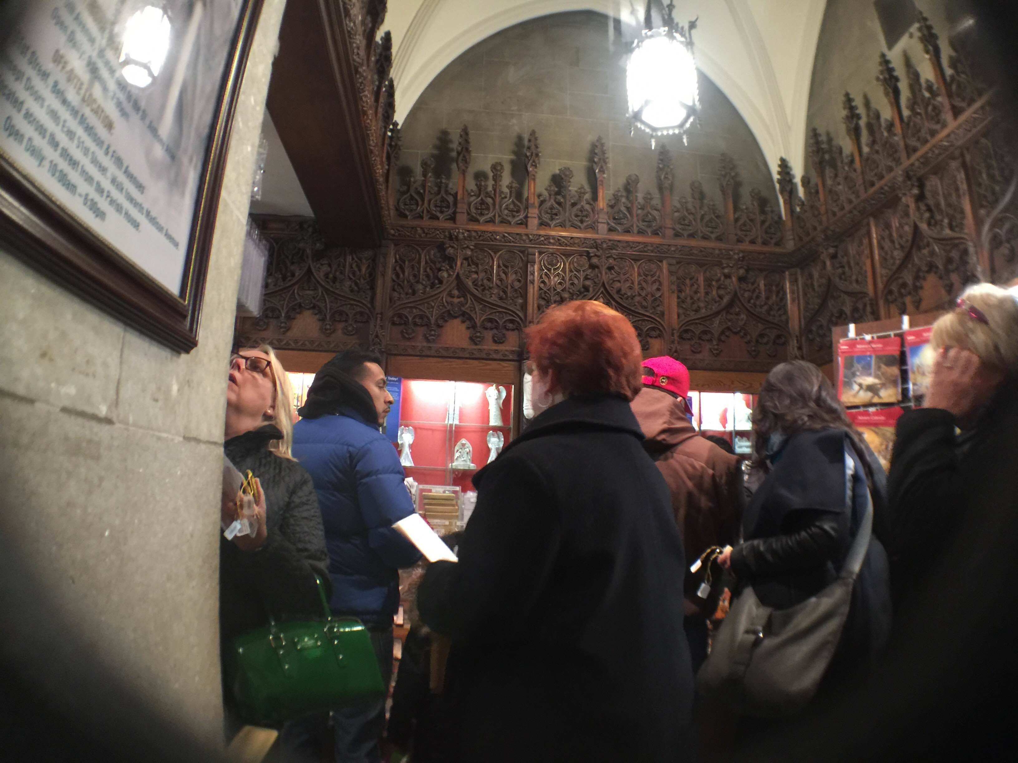 Personas en St. Patrick's Old Cathedral