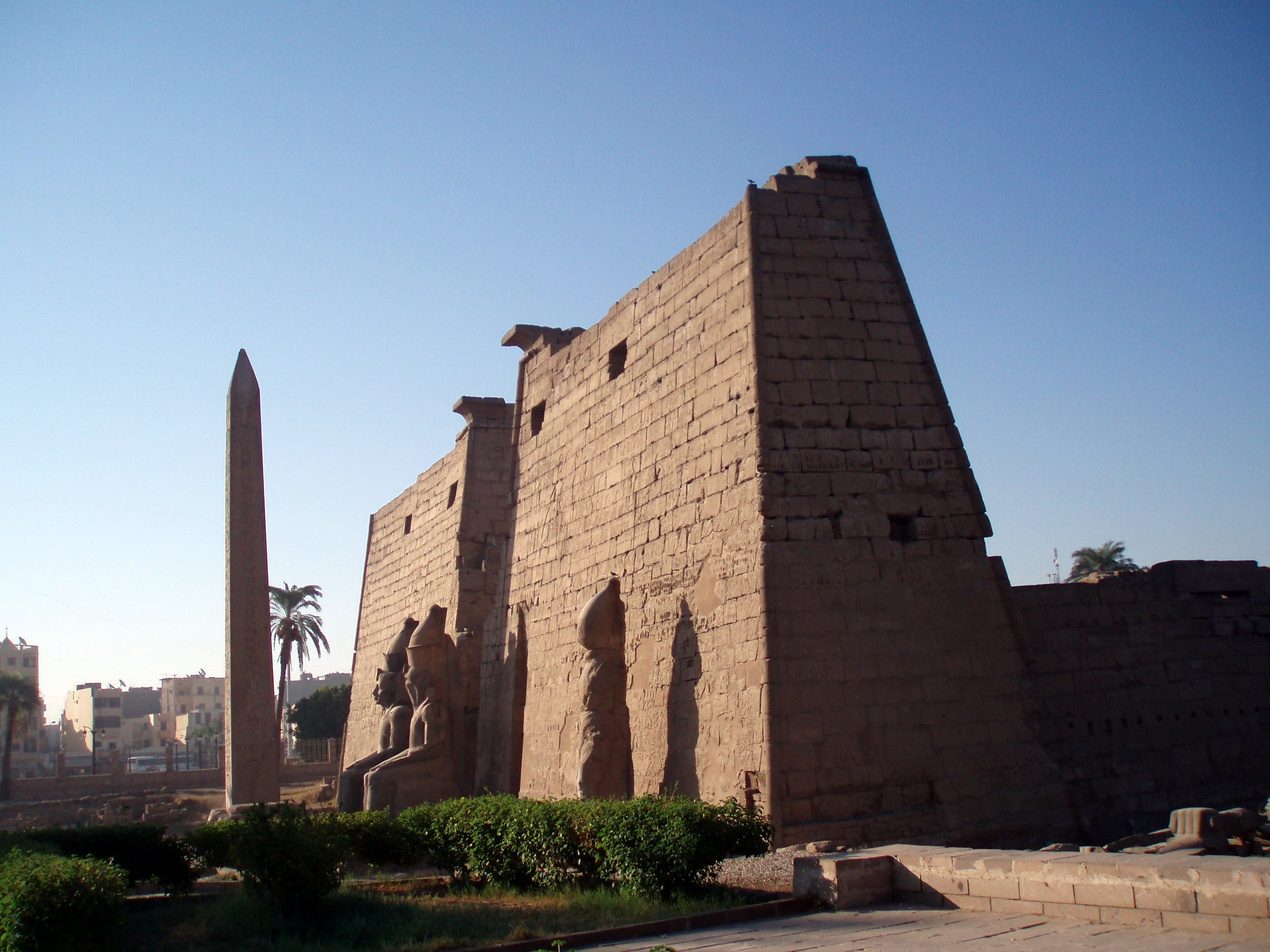 Pared en Templo de Luxor