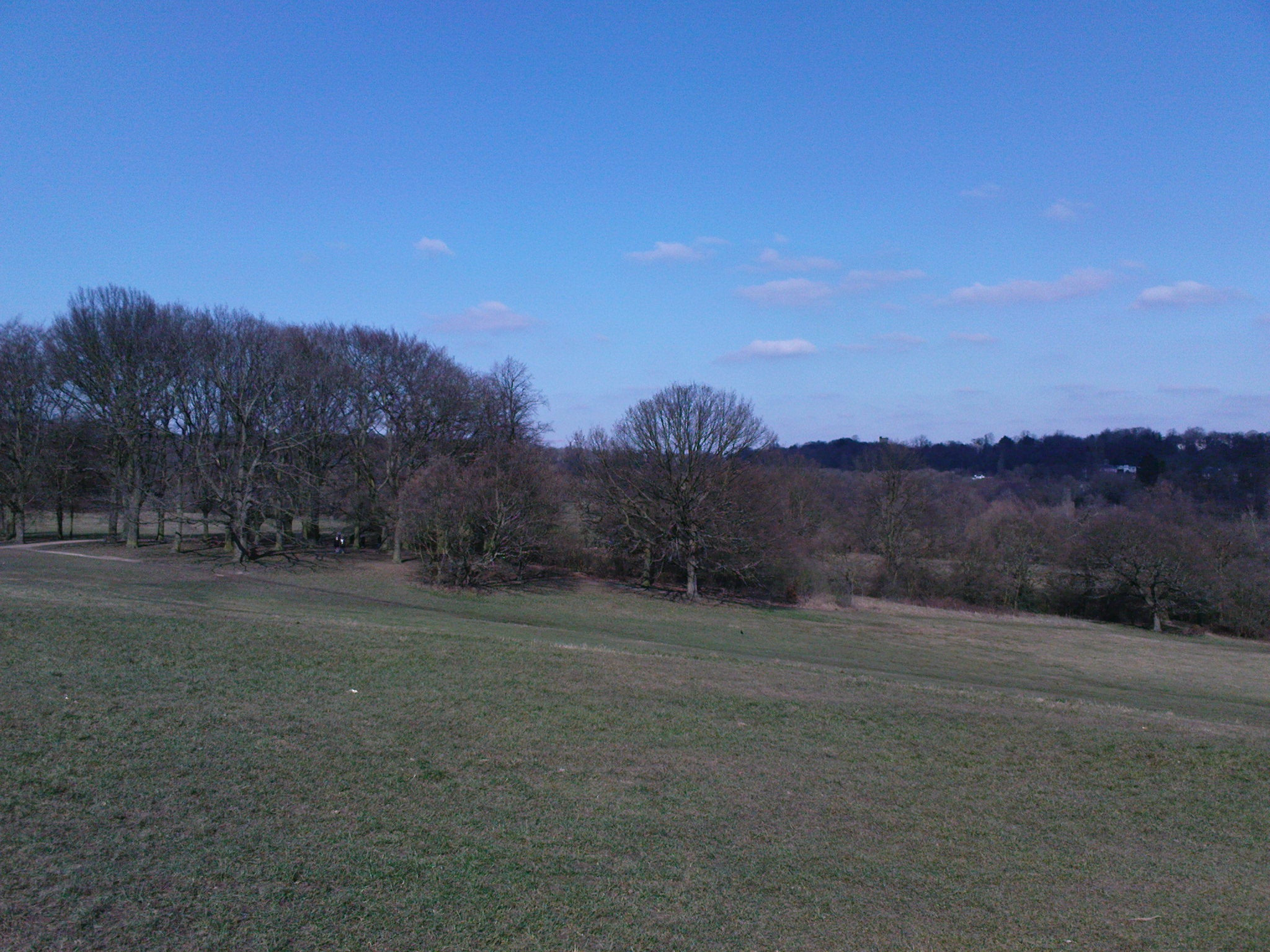 Llanura en Parque de Hampstead Heath