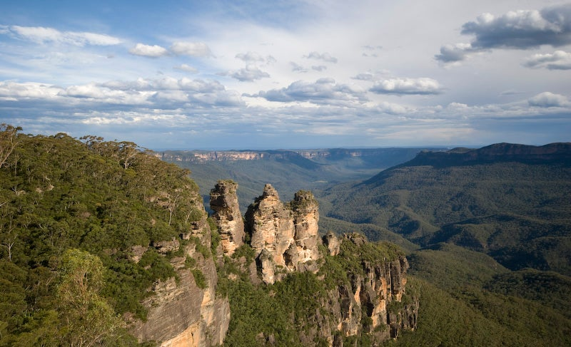 Camino en Parque nacional Blue Mountains