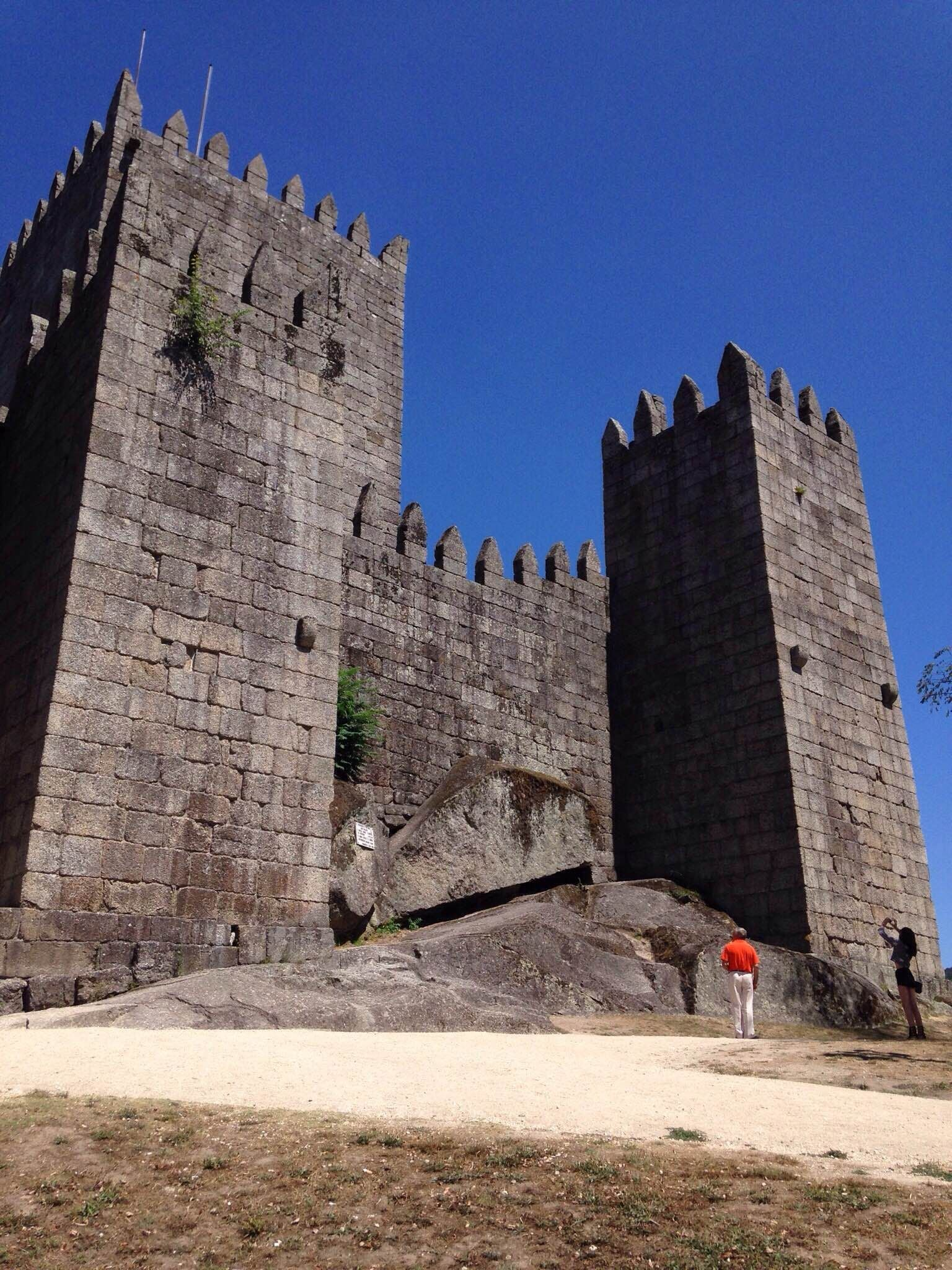 Pared en Castillo de Guimarães