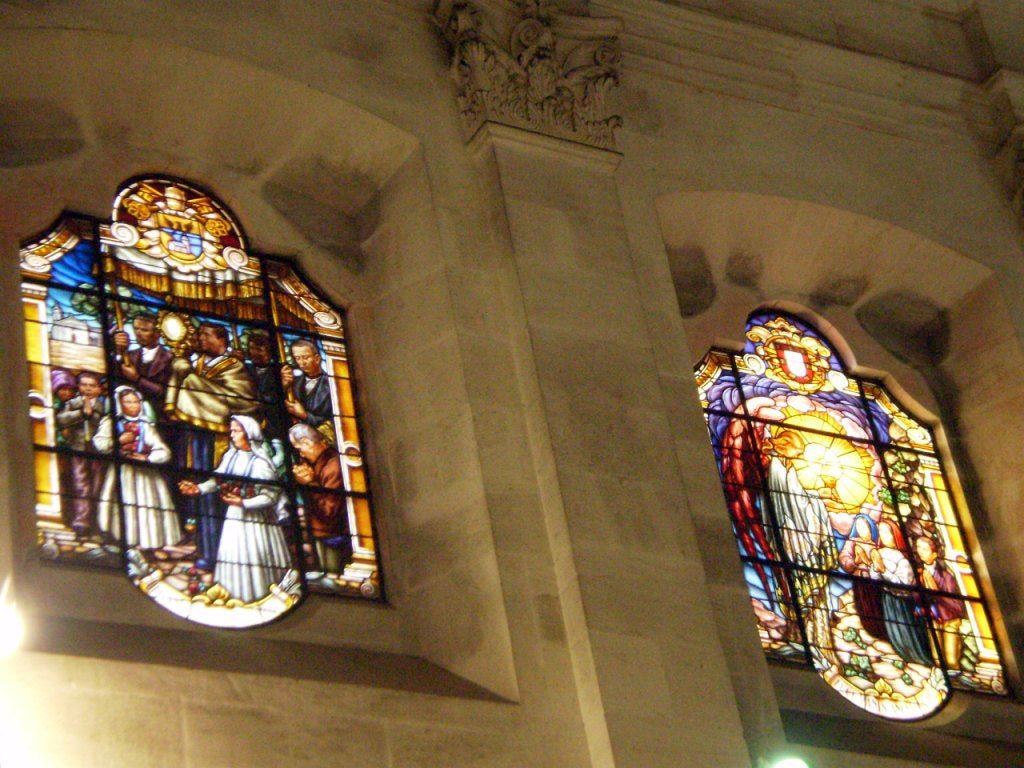 window in Basilica of Our Lady of the Rosary of Fatima