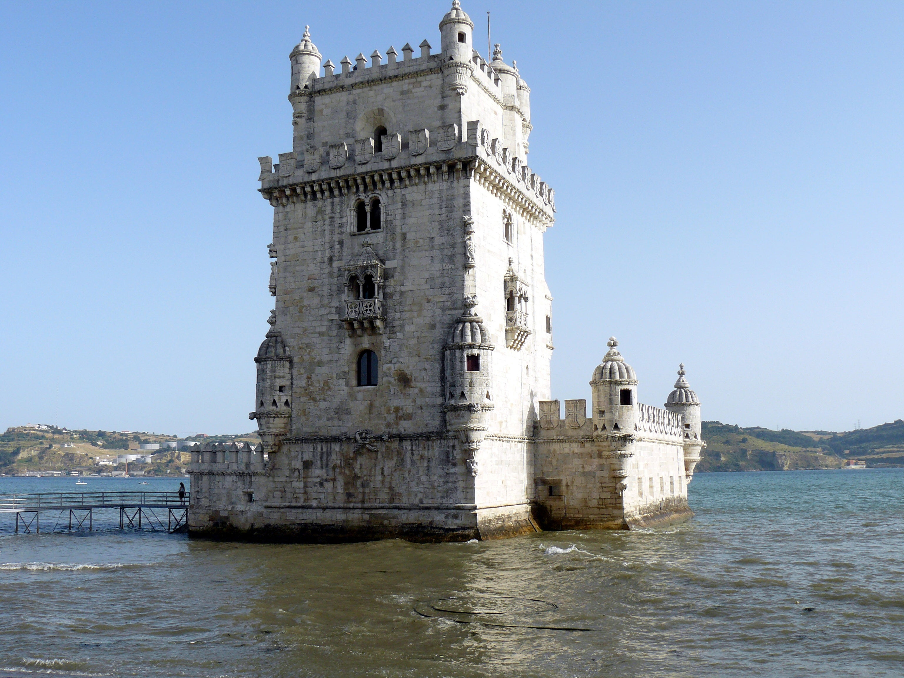 Moat in Belém Tower
