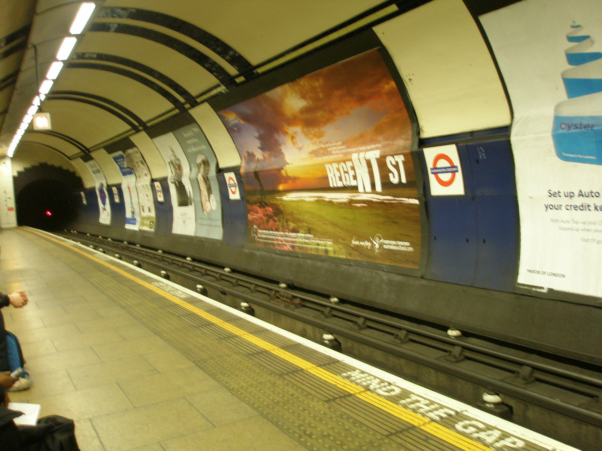 Estación de tren en London Tube