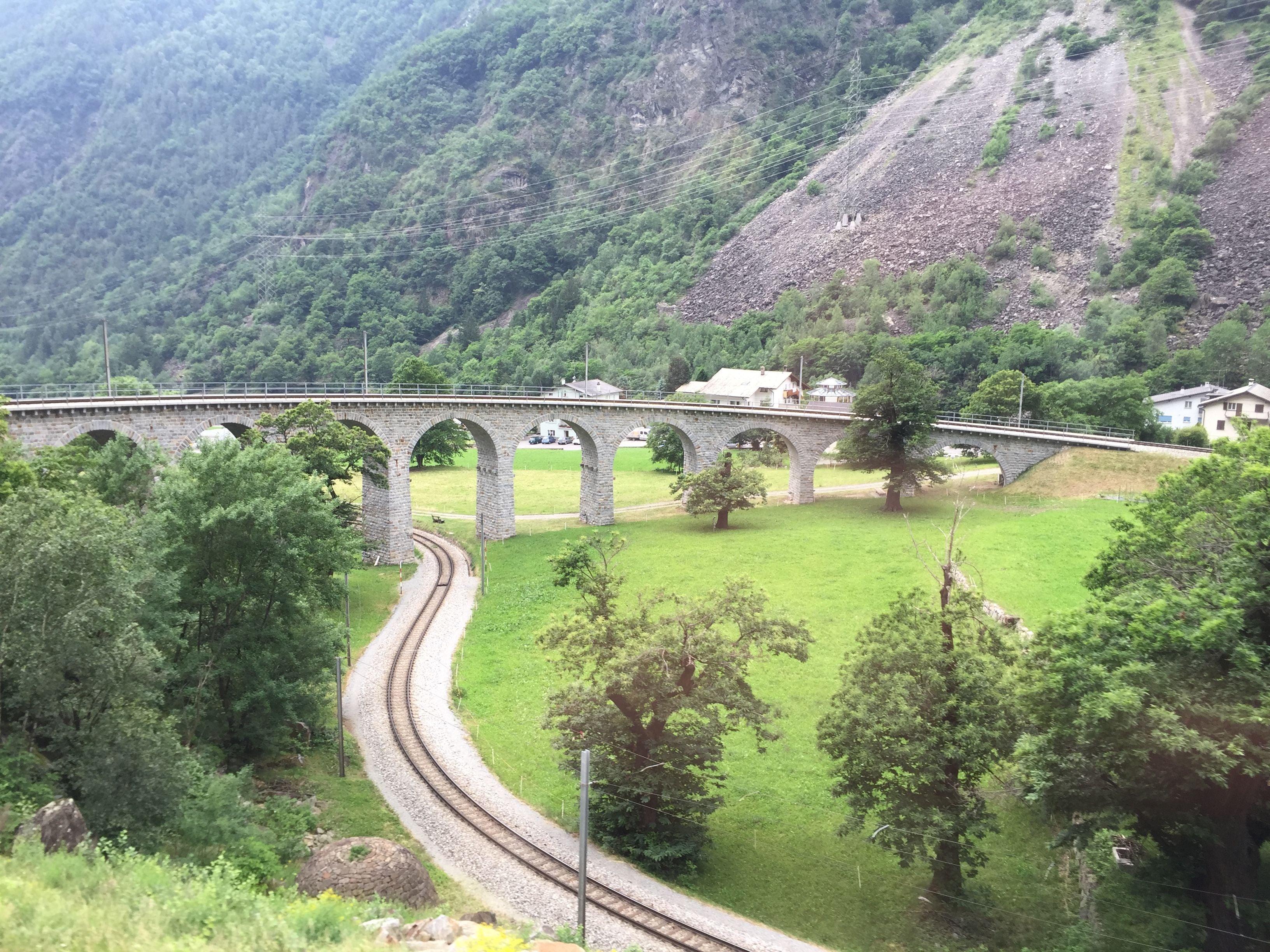 Viaducto en Bernina Express