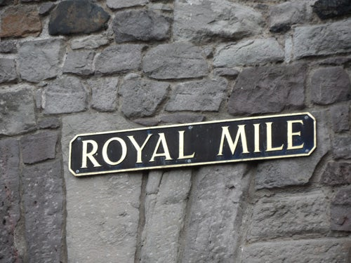 Piedra en Royal Mile