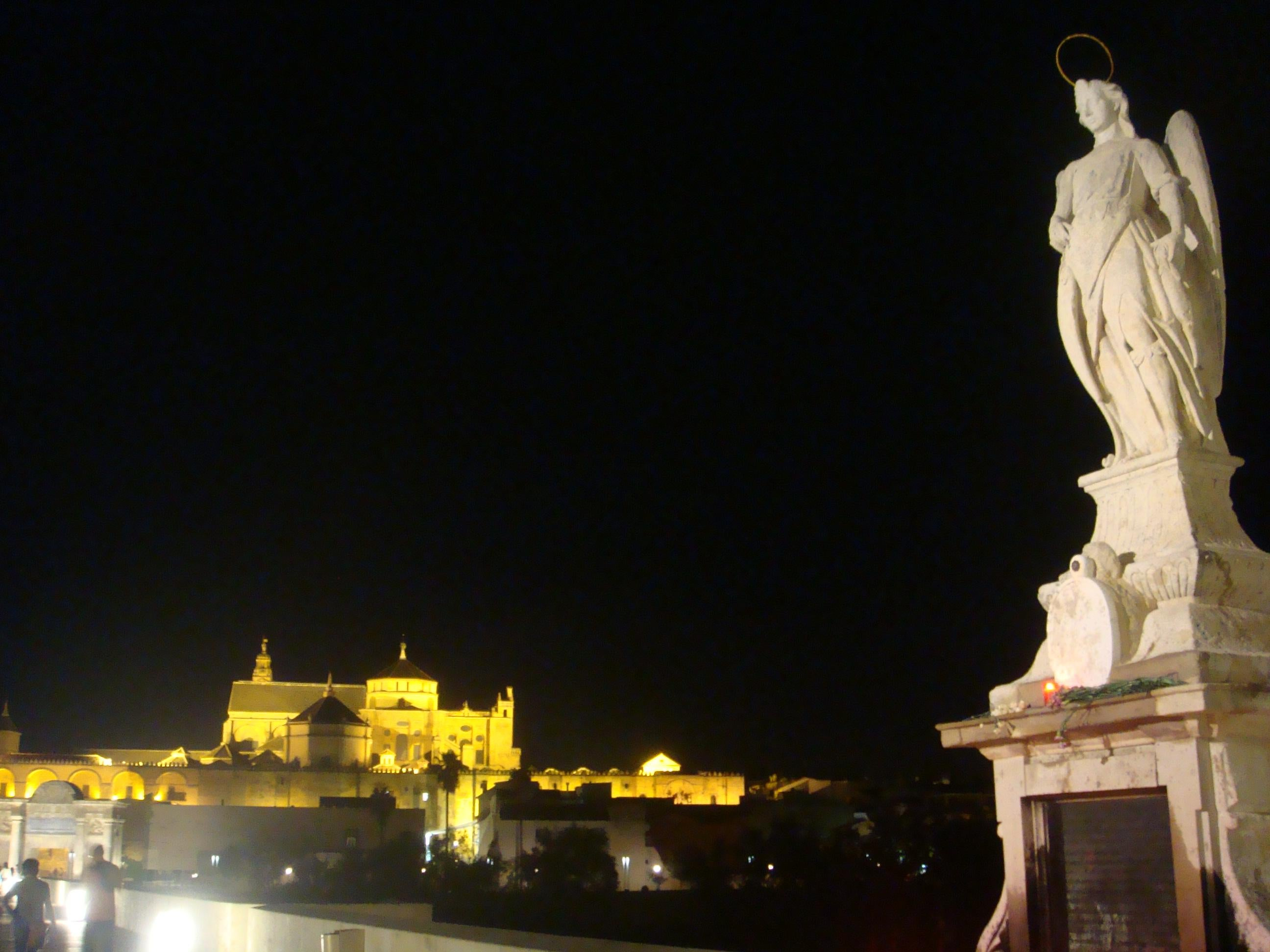 Night in Roman Bridge of Córdoba