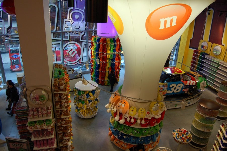 Cortinas en M&M'S World