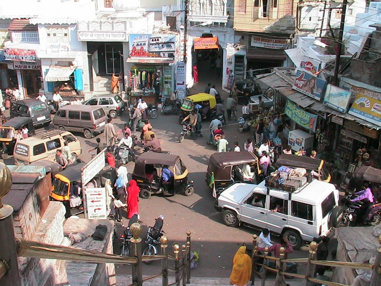 Multitud en Udaipur