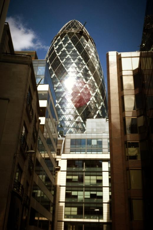 Ventana en Swiss Re Tower - Torre Gherkin