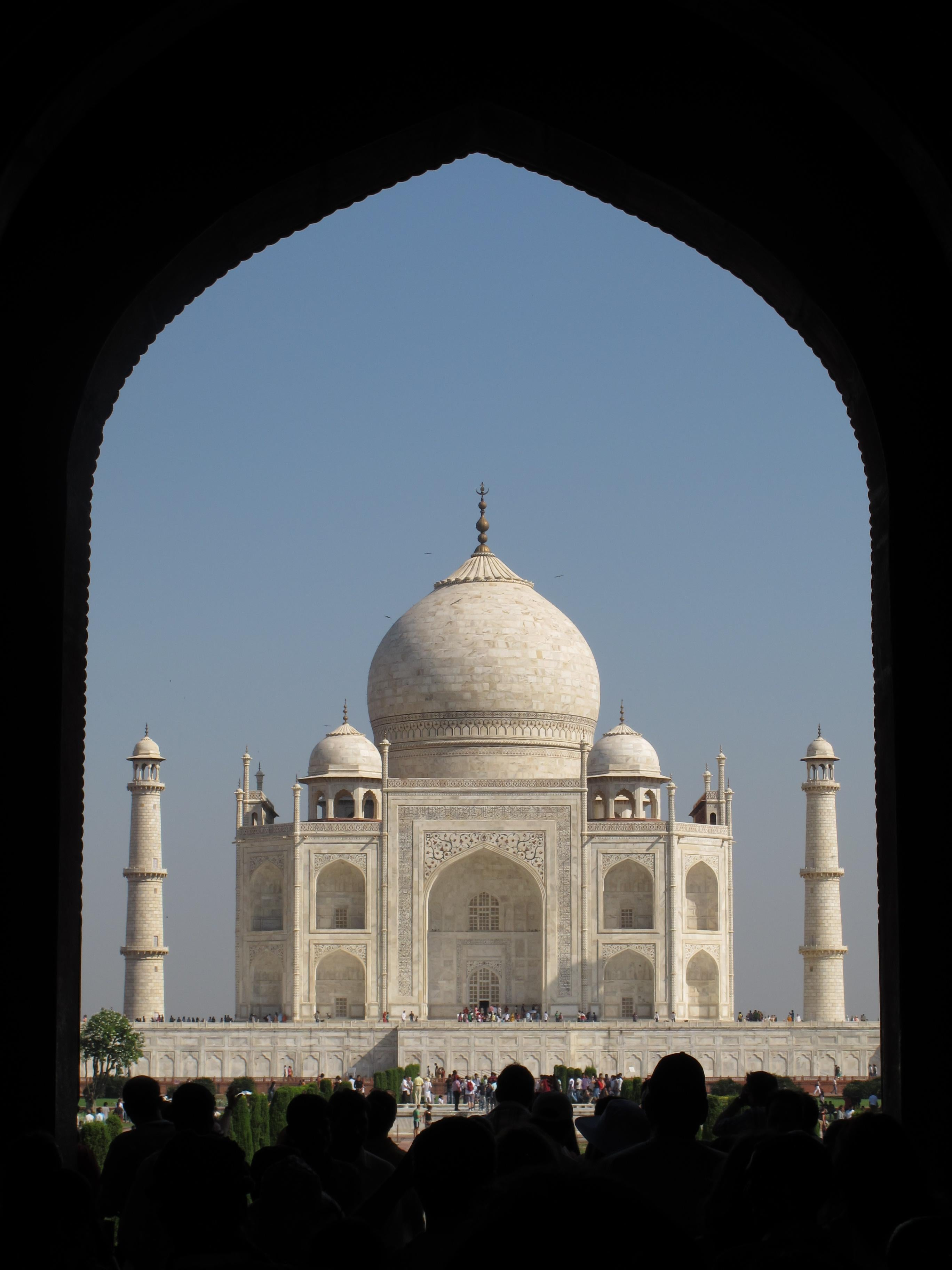 Blanco en Taj Mahal
