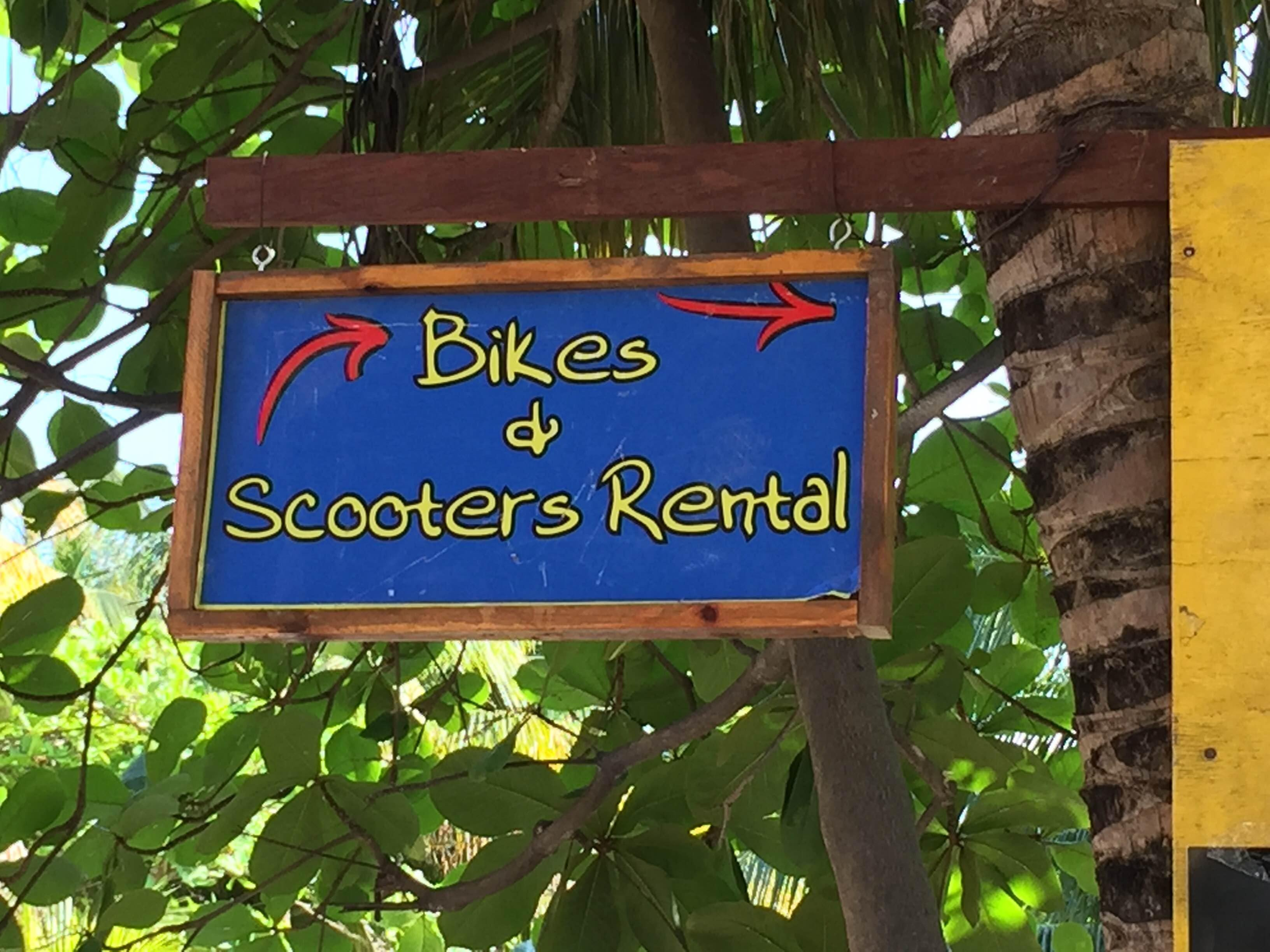 Bikes and scooters rental