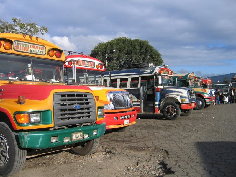 Carreras en Chicken Buses