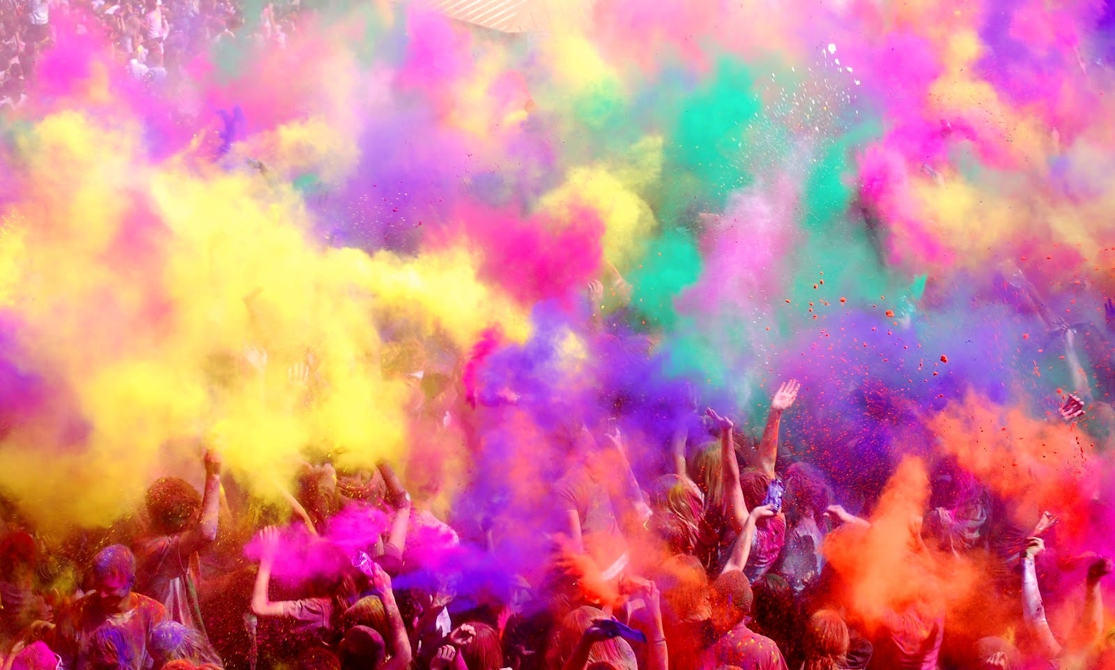 The Holî, color festival