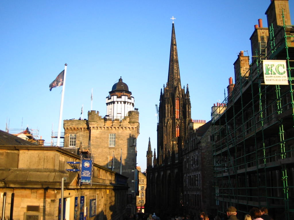 Anochecer en Royal Mile