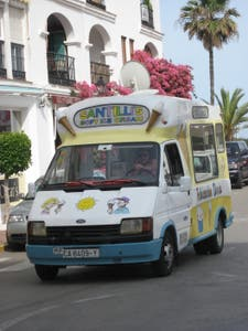 American typical Ice cream truck
