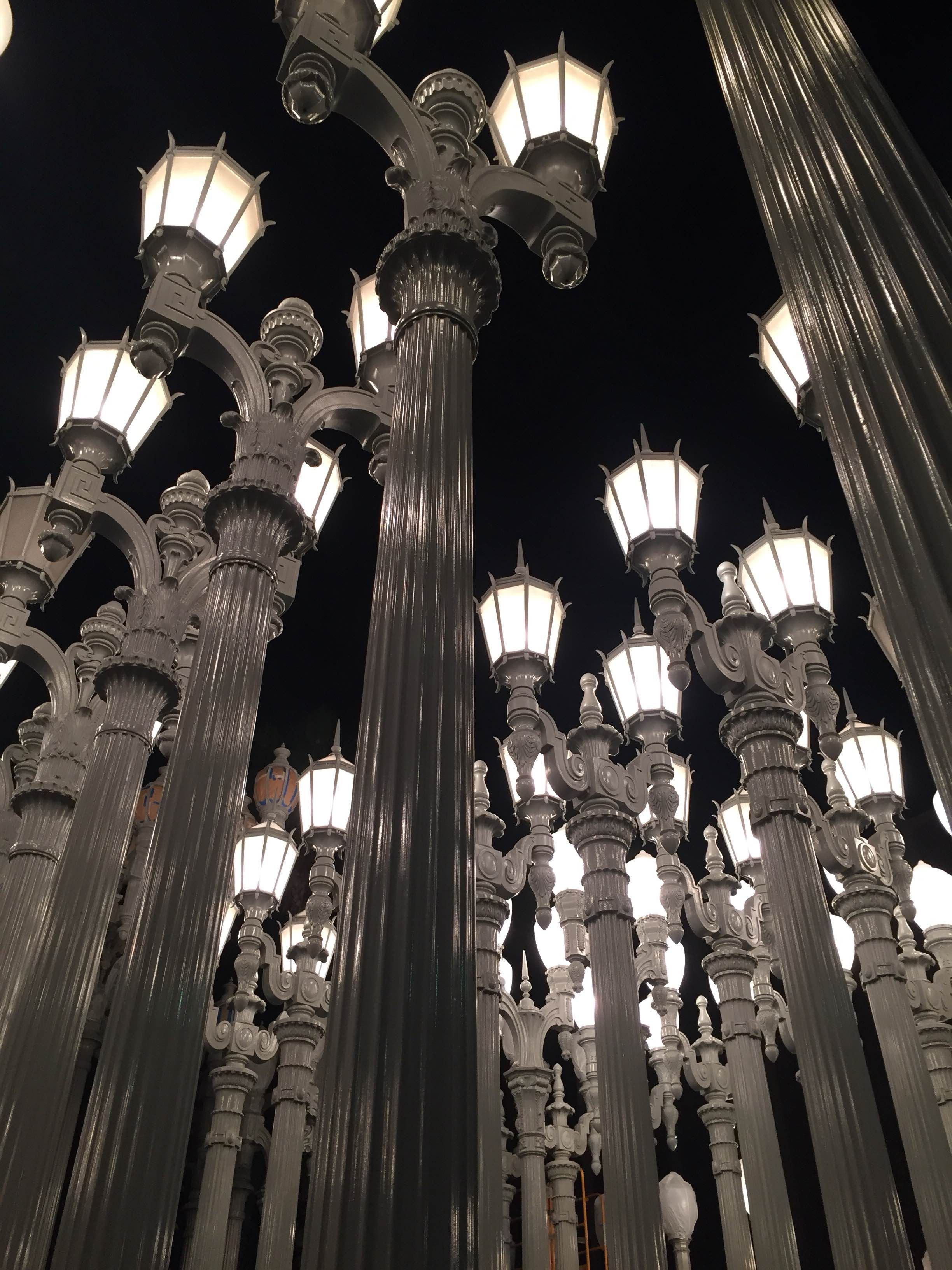 Lámpara en LACMA Lights