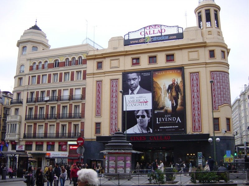 Color rosa en Plaza de Callao